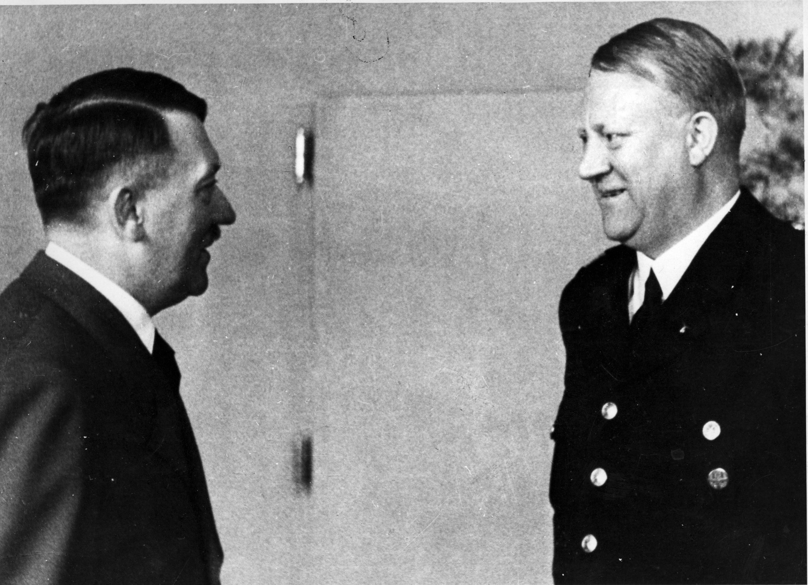 VEST-VIKEN: Nasjonal Samlings fører Vidkun Quisling møtte Adolf Hitler 19. april 1943. Før det hadde han døpt to NS-områder for Øst-Viken og Vest-Viken.
