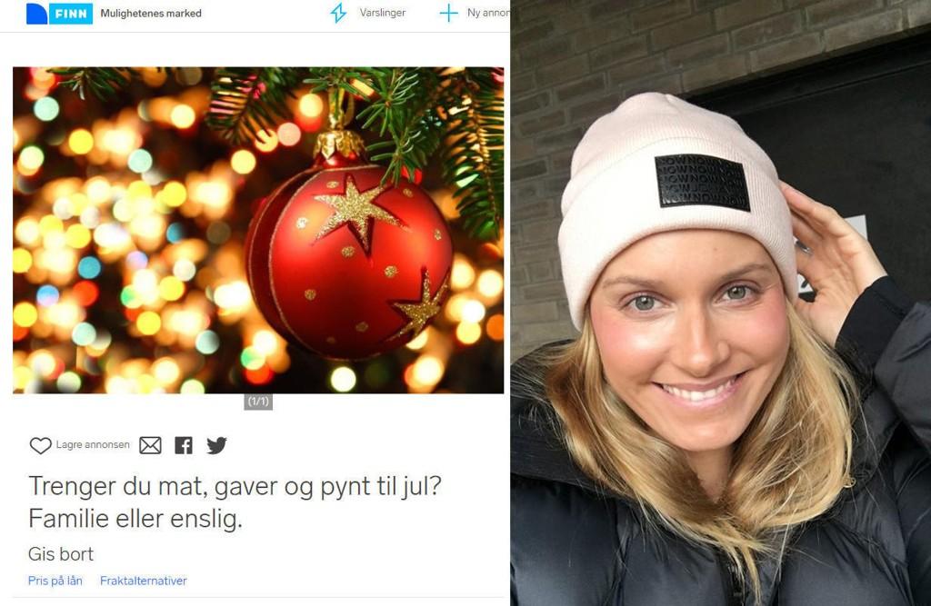 Blogger Anja Johansen bestemte seg for å opprette en Finn-annonse for folk som gruer seg til jul på grunn av dårlig økonomi.