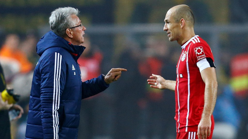 Jupp Heynckes har gitt Bayern München et solid løft etter at han gjorde trenercomeback. Her med Arjen Robben.