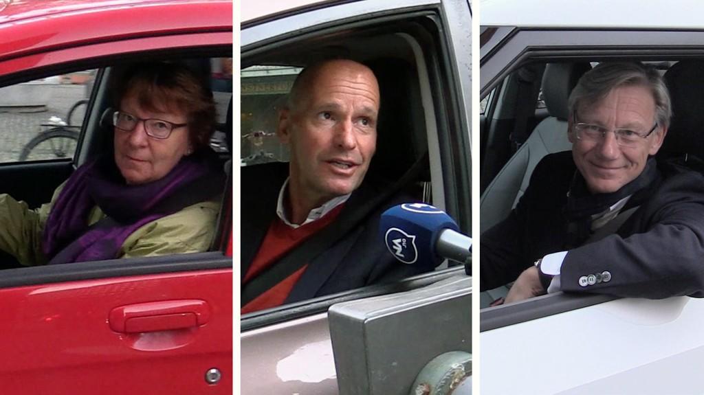 GRATIS: Da Nettavisen stilte seg opp utenfor rådhusgarasjen, kom Oslo-ordfører Marianne Borgen (SV), byråd Geir Lippestad (Ap) og Høyre-politiker James Lorentzen kjørende til sin parkeringsplass. Men nå kan det bli snart bli slutt på gratisparkeringen deres.