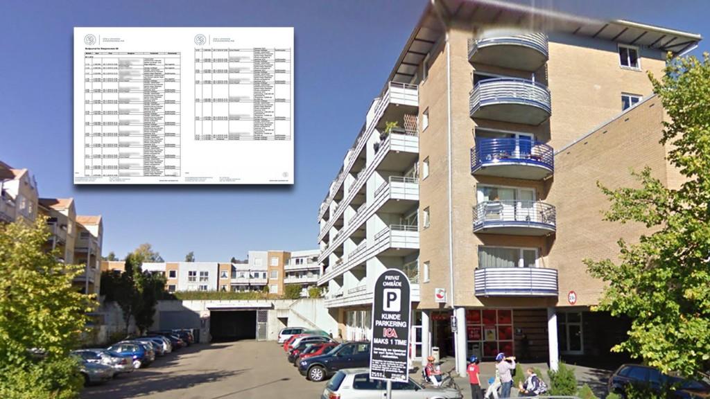I dette bygget på Huseby i Oslo gjennomførte Oslo kommune kjøp av fire leiligheter. Detaljene viser at at innkjøperne var desperate etter å finne leiligheter før nyttår. Etter at Boligbygg sluttet å by på leilighetene, falt prisen med én million.