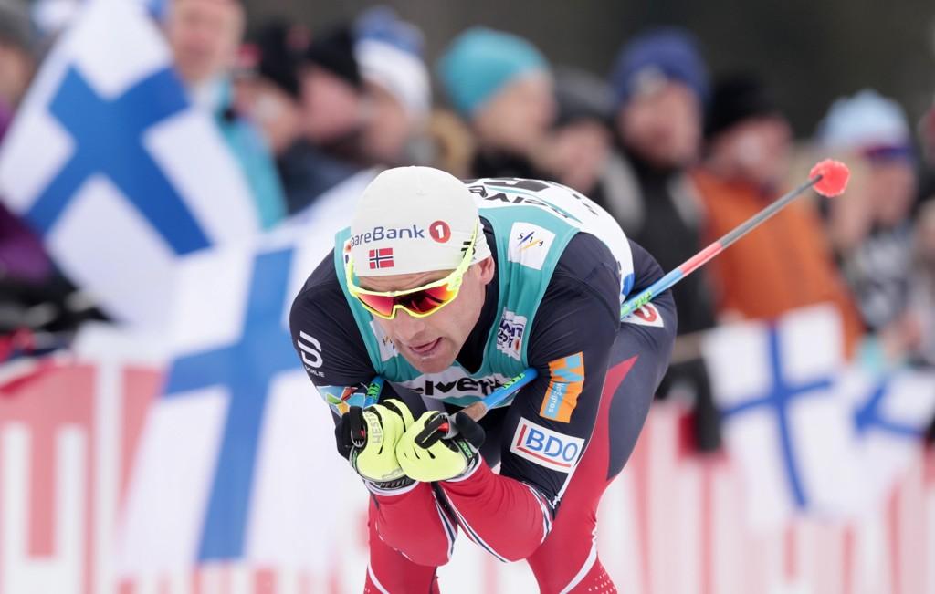 SKADET: Den norske langrennsløperen Niklas Dyrhaug.