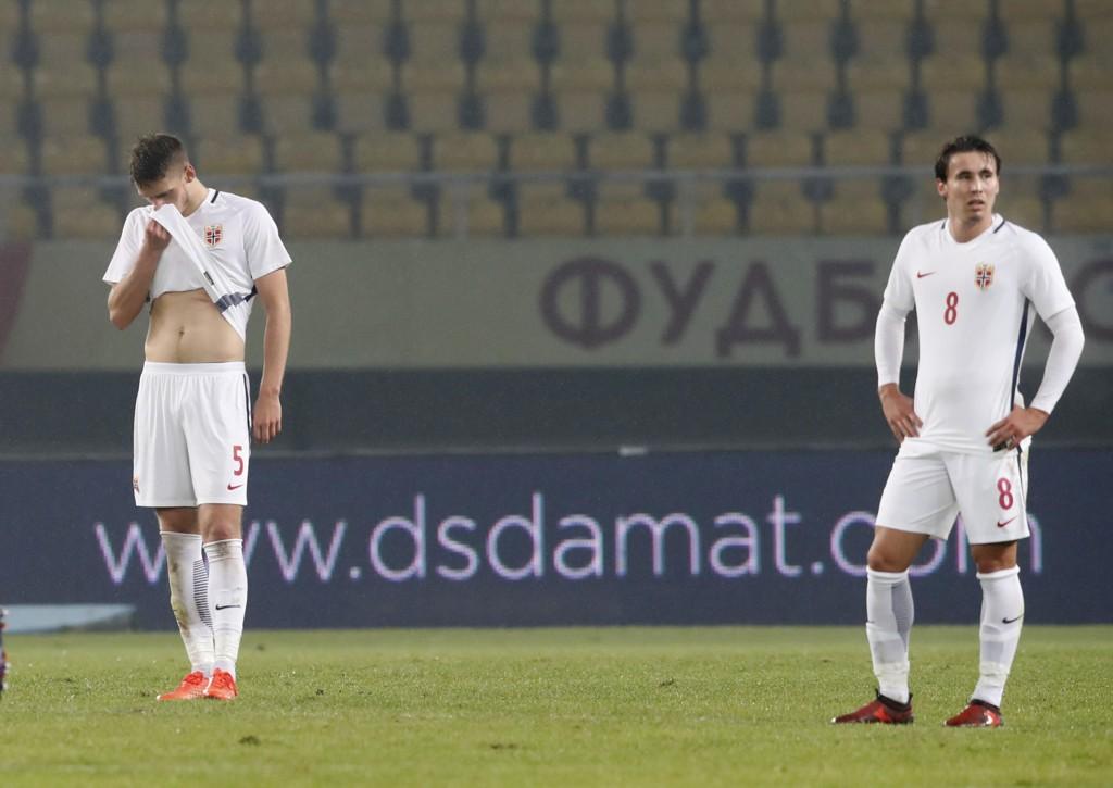 SVAK FORESTILLING: De norske fotballherrene leverte under pari borte mot Makedonia lørdag.