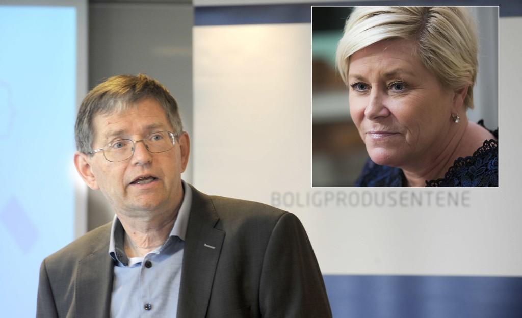 Administrerende direktør Per Jæger i Boligprodusentenes Forening mener finansminister Siv Jensens midlertidige boliglånsforskrift ikke bør videreføres fra sommeren.