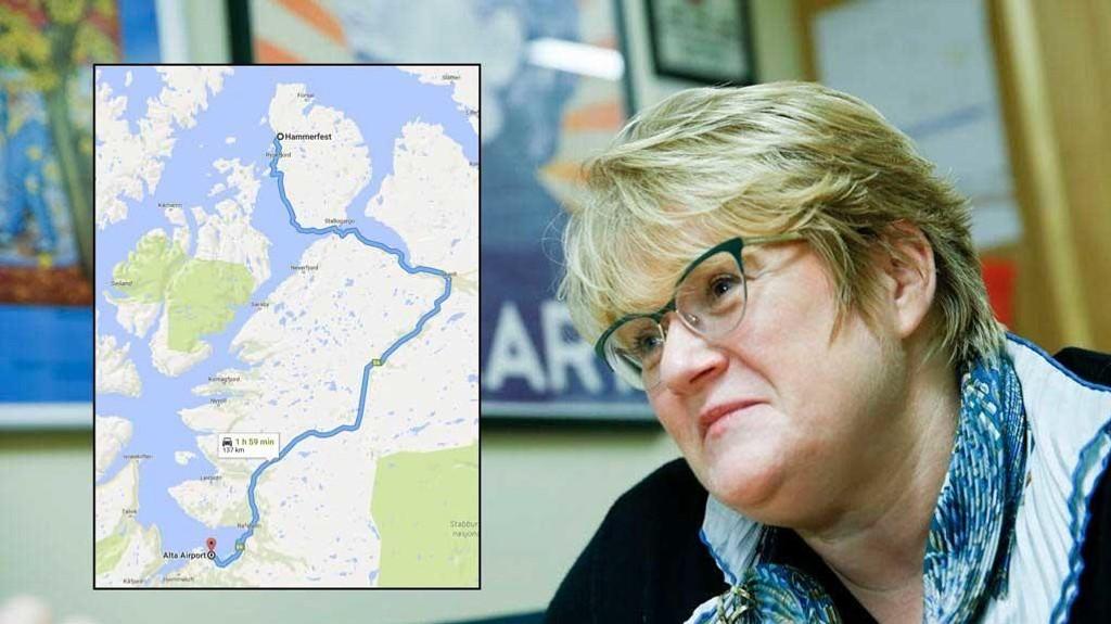 KAMP I STORTINGET: Venstre-leder Trine Skei Grande fremmer privat lovforslag for å tvinge regjeringen til å utrede et nytt akuttsykehus i Alta. For kommunens 20.000 innbyggere er det nesten to timer kjørevei til Hammerfest.