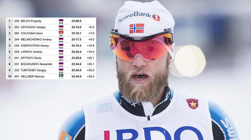 RUSSISK DOMINANS: Martin Johnsrud Sundby tror det hadde vært dårlig stemning i den norske leiren hvis utlendinger hadde dominerte den norske åpningen, slik de russerne gjorde i Sverige denne helgen.
