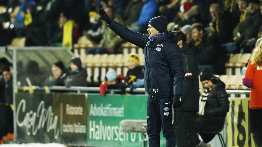 FREMGANG: Ole Gunnar Solskjær er fornøyd med fremgangen i Molde-laget denne sesongen, men han er klar på at det er flere ting som må bli bedre foran neste sesong.