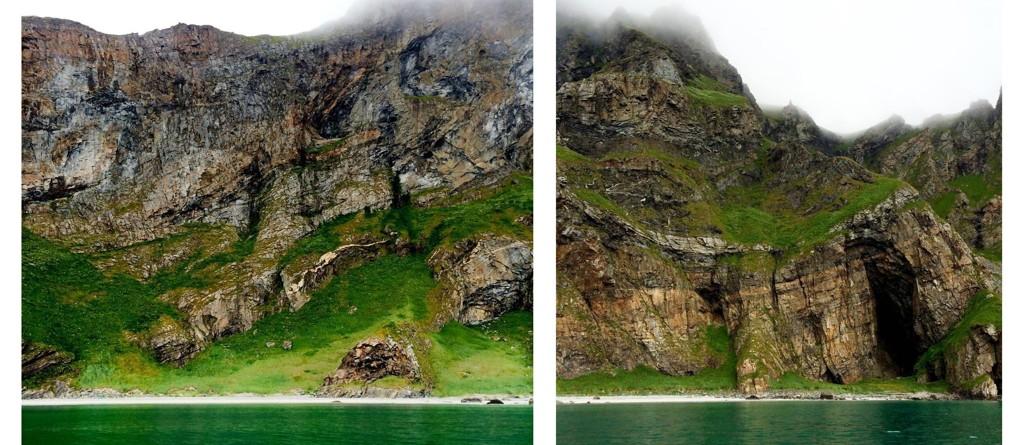 RÅ NATUR: Sandstranden på Værøy er omgitt av rå, vill natur.