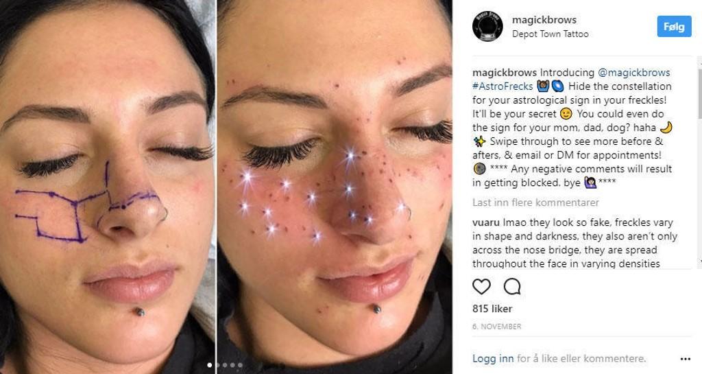 Kunne du tenkt deg astronomiske tegn i ansiktet?
