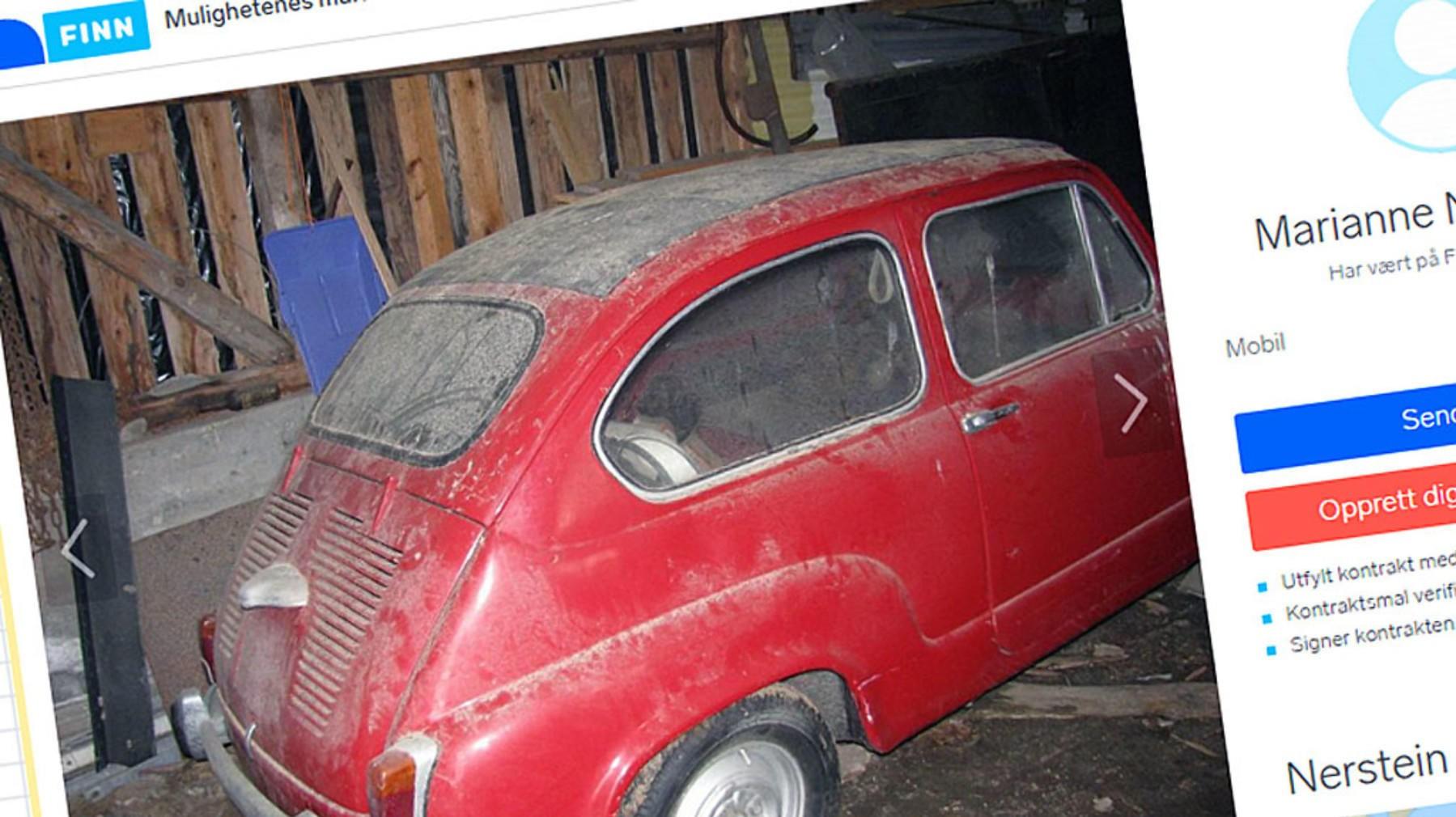 Denne sjeldne bilen ble satt på låven i 1987. Siden har den stått der, men nå skal den selges.