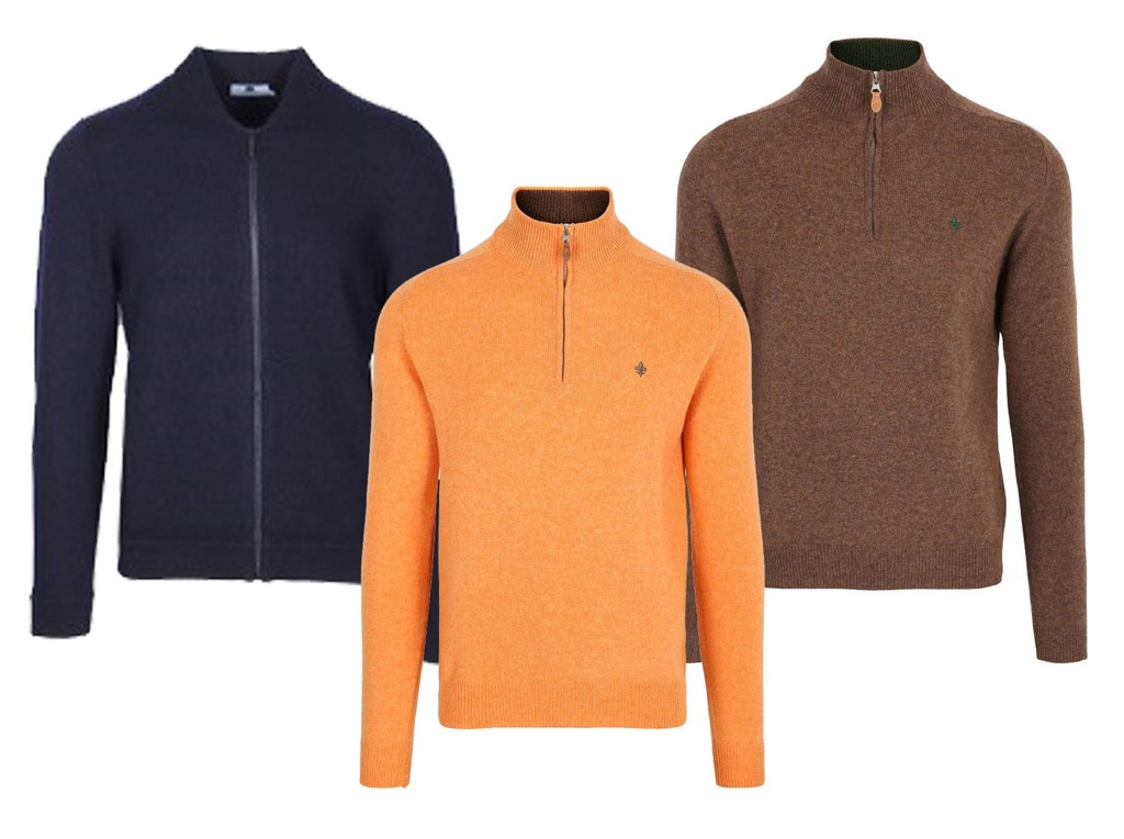 734ba9ce Genser fra NN07 - Orange genser fra Morris - Brun genser fra Morris