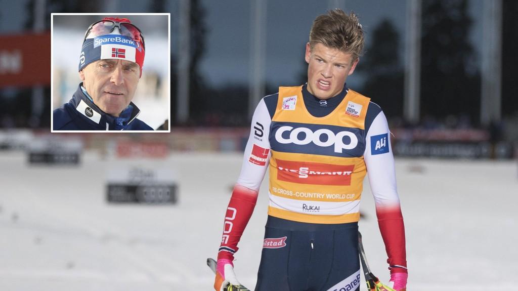 SPERRET OPP ØYNENE: Landslagstrener Arild Monsen ble imponert da de sturderte Johannes Høsflot Klæbos løp med GPS.
