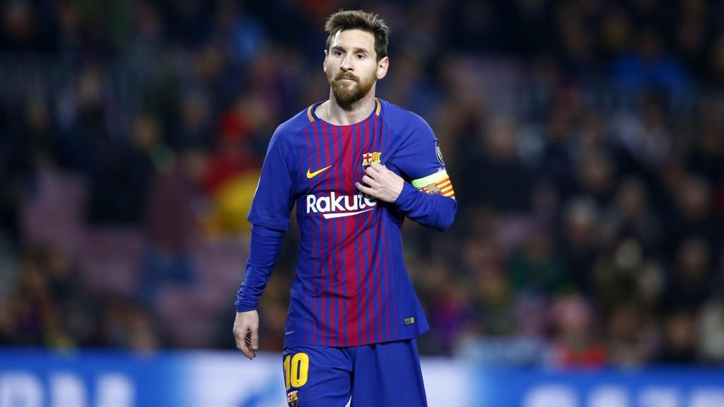SA NEI TIL MANCHESTER CITY?: Lionel Messi.