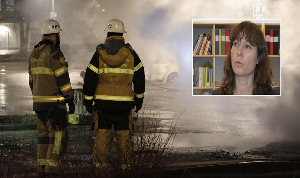 - KRIGSSONE: Sveriges nye politisjef i kampen mot organisert kriminalitet, Lise Tamm, sier at bydelen Rinkeby er en krigssone. Christine Olsson / Sweden OUT/YouTube