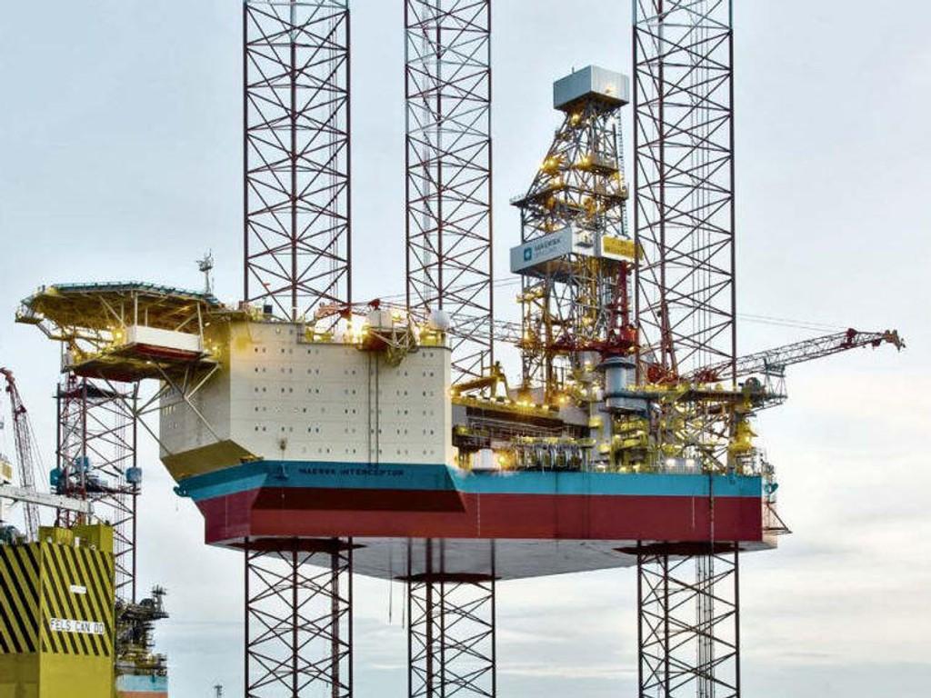 ULYKKE: Det har vært en ulykke ombord plattformen Maersk Interceptor.