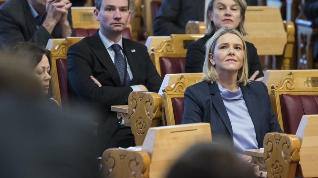 STATSRÅD: Satsråd Sylvi Listhaug under muntlig spørretime, torsdag.