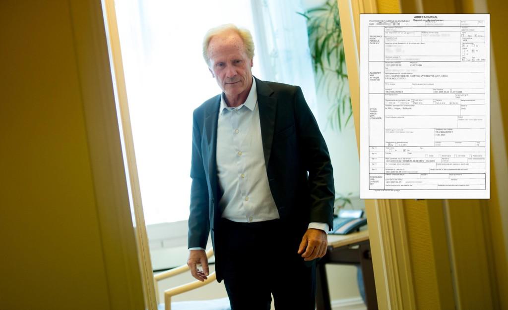 Advokat Per Danielsen representerer skuespilleren som ble frikjent etter å ha vært straffeforfulgt i over 11 år. I mars 2016 ble hun frikjent i Oslo tingrett for anklager om grovt heleri. Politiet anket ikke og dommen er rettskraftig. Det innfeldte bildet viser arrestjournalen fra sentralarresten i Oslo.