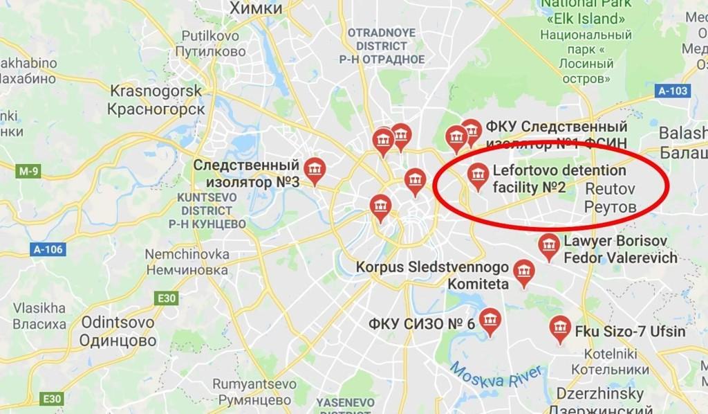 Berg har sittet isolert i en celle i høysikkerhetsfengselet Lefortovo i Moskva i to uker og er varetektsfengslet fram til 5. februar.
