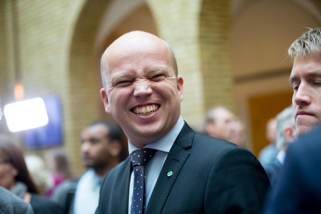 GRUNN TIL Å SMILE: Trygve Slagsvold Vedum, leder i Sp.
