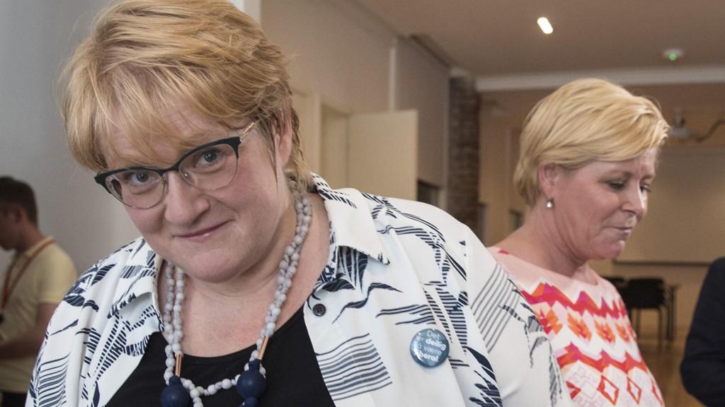 KLAR: Leder av Venstre, Trine Skei Grande, er klar for regjeringsforhandlinger med Høyre og Frp