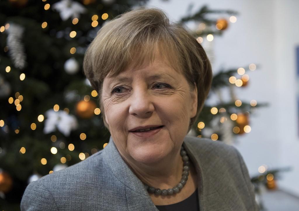 FLERE JOBBER TIL JUL: Forbundskansler Angela Merkel kunne avslutte fjoråret med å vise til rekordlav arbeidsledighet.