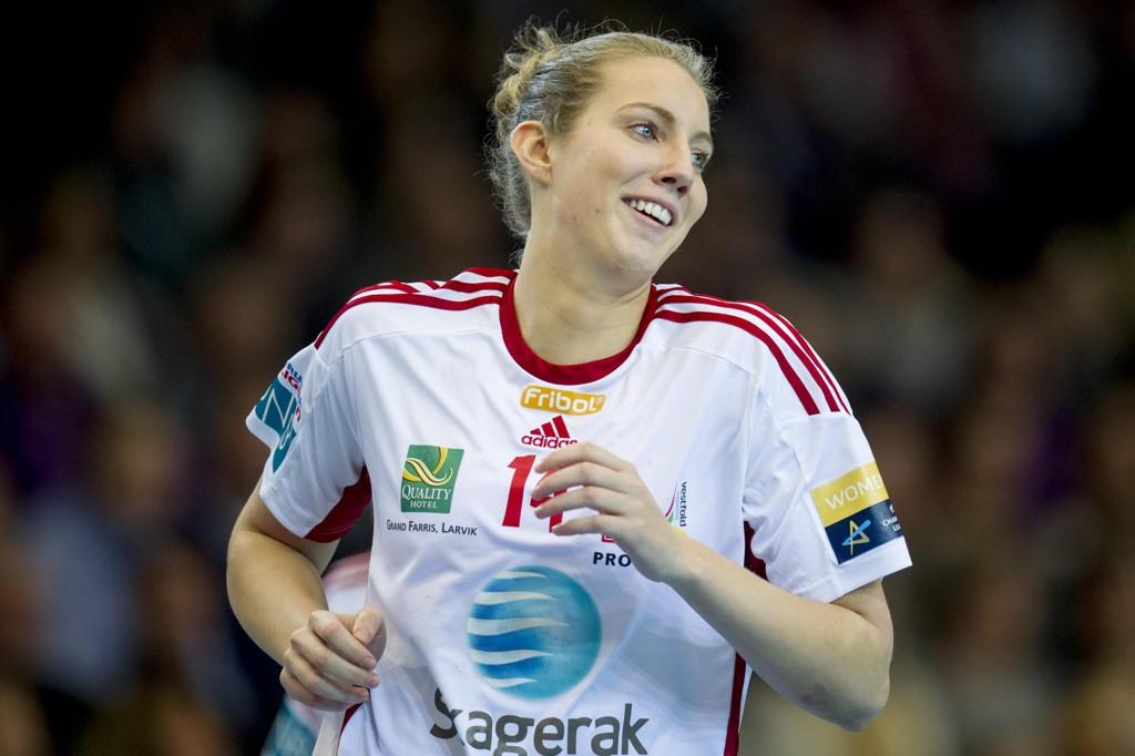 SEIER: Kristine Breistøl ble Larviks toppscorer med ni mål da Zalau fra Romania ble slått 28-23 i EHF-cupen.