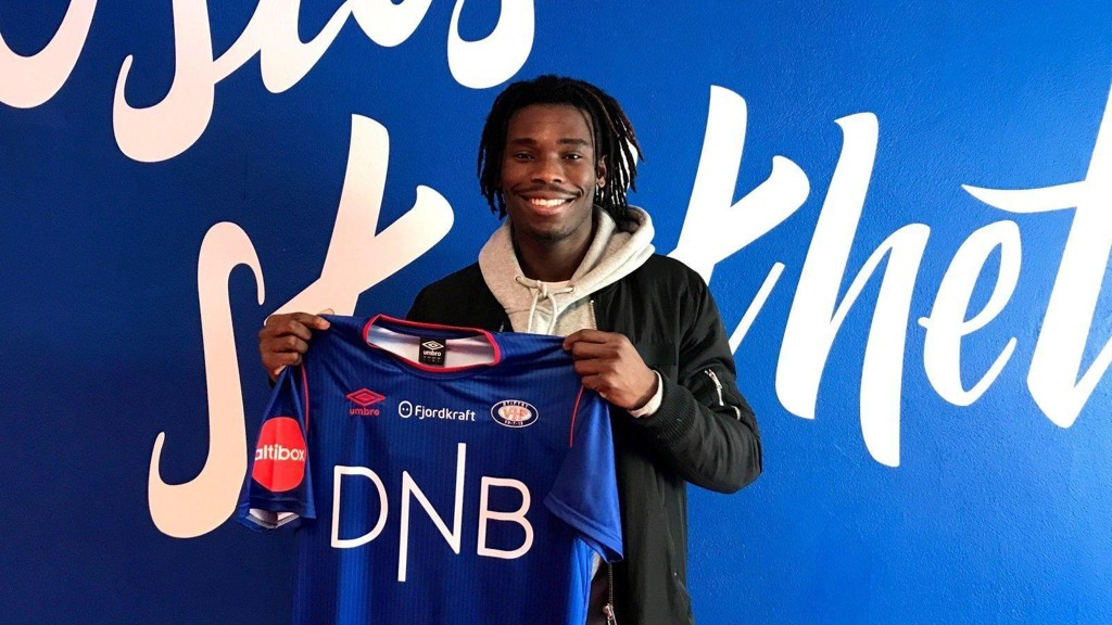 KLAR FOR VÅLERENGA: Sam Adekugbe.