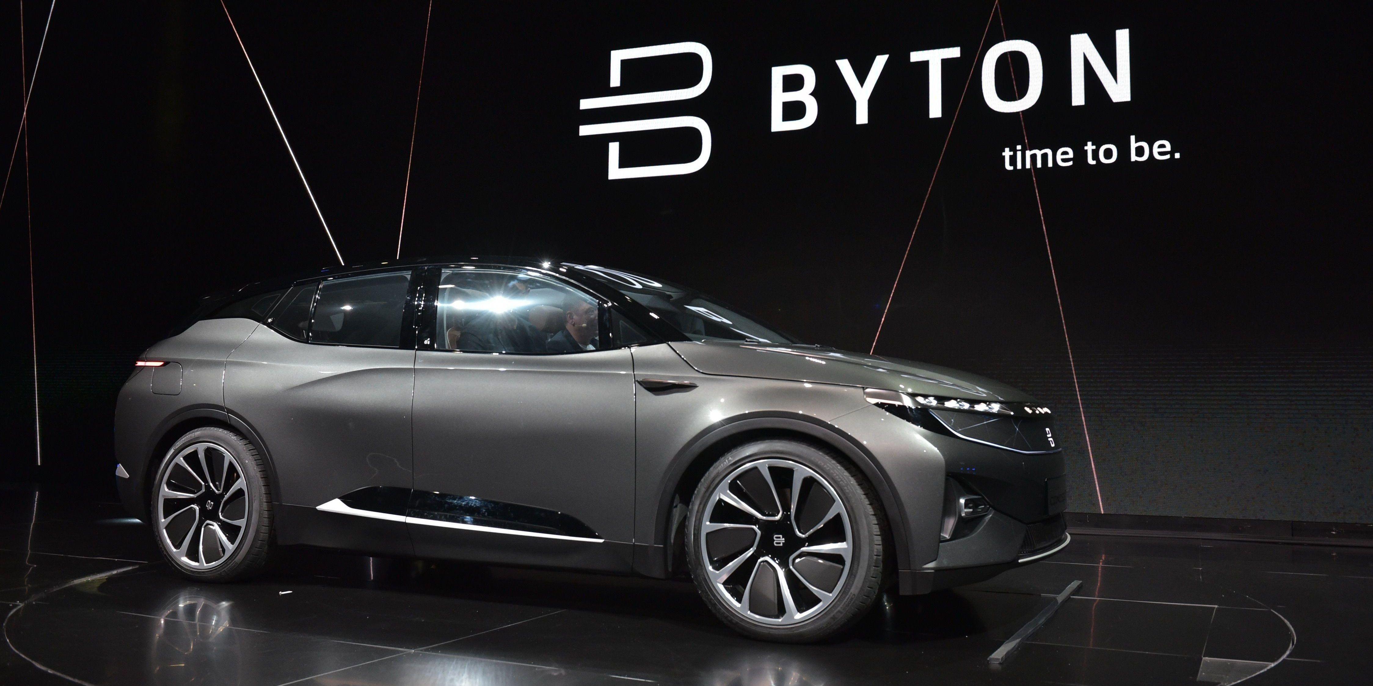 AVDUKET: Den første elbilen til oppstartselskapet Byton ble viste fram for første gang under teknologimessen CES i USA i januar 2018.