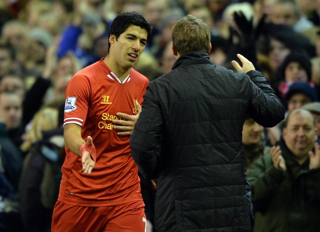 VAR NÆR NY KLUBB: Luis Suarez var på vei bort fra Liverpool da Brendan Rodgers overtok som manager i 2012.