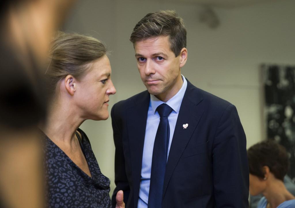 KrFs Hilde Frafjord Johnson og partileder Knut Arild Hareide under landsmøtet i 2016.