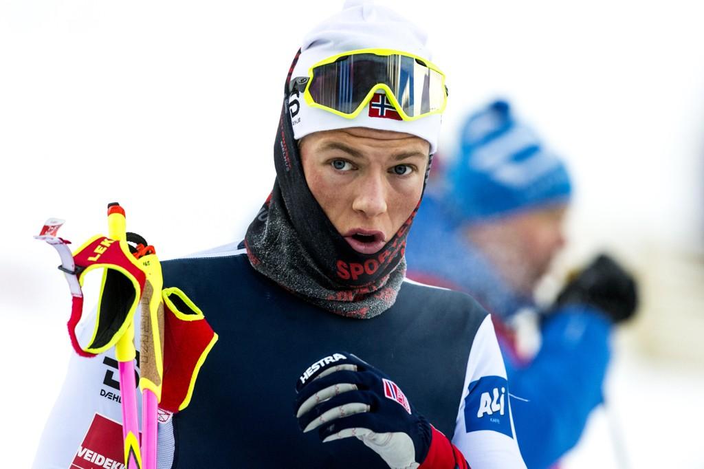 IMPONERTE: Johannes Høsflot Klæbo imponerte under prologen i ski-NM torsdag. Her fra Strindheimstafetten,