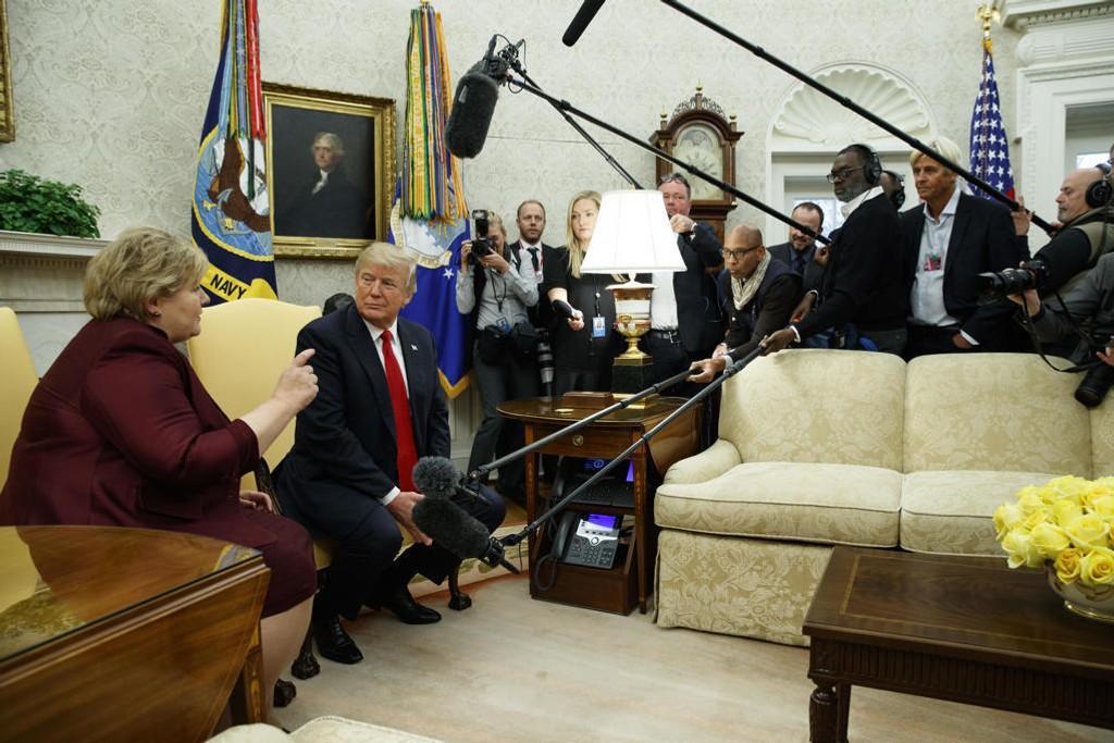 Statsminister Erna Solberg snakket økonomi, og dermed fant hun tonen med Donald Trump.