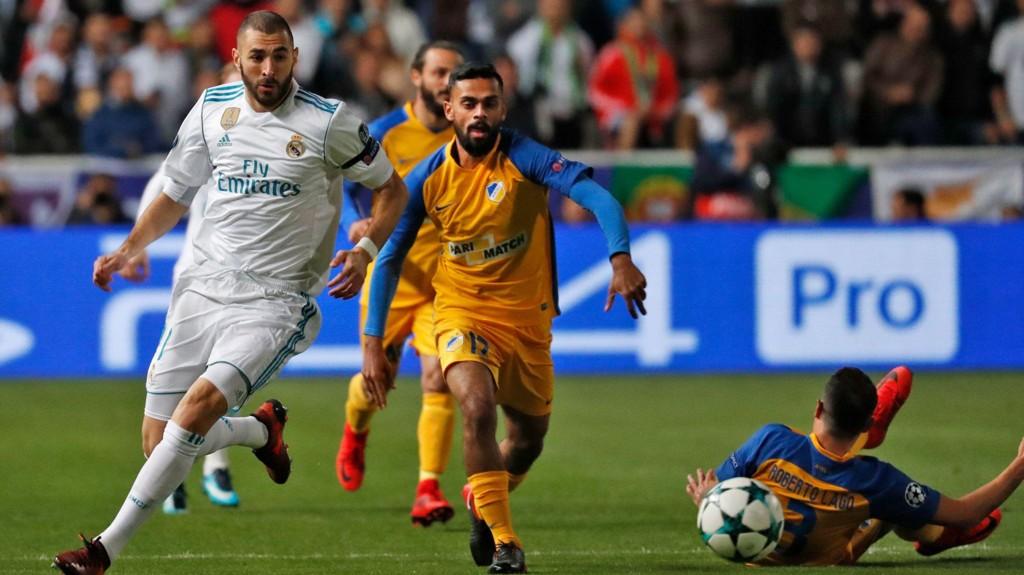 MOT STJERNENE: Ghayas Zahid har fått sjansen i Champions League denne sesongen. Der har han blant annet møtt Karim Benzema og Real Madrid.