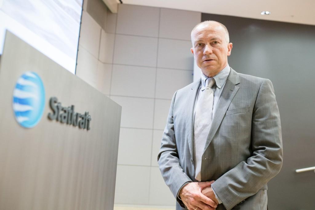 Konsernsjef Christian Rynning-Tønnesen i Statkraft legger fram gode resultater for andre kvartal 2017.