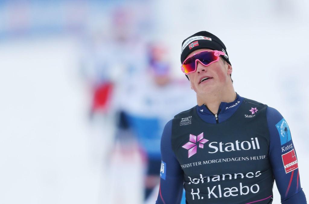 MED I TOPPEN: Johannes Høsflot Klæbo var nest raskest på sprinten i Tyskland. Her fra NM tidligere i uka.
