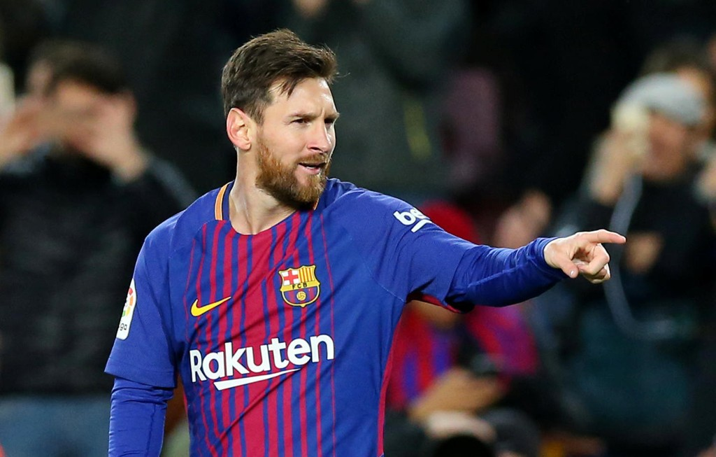 I BRUKBAR FORM: Lionel Messi herjer i kjent stil om dagen.