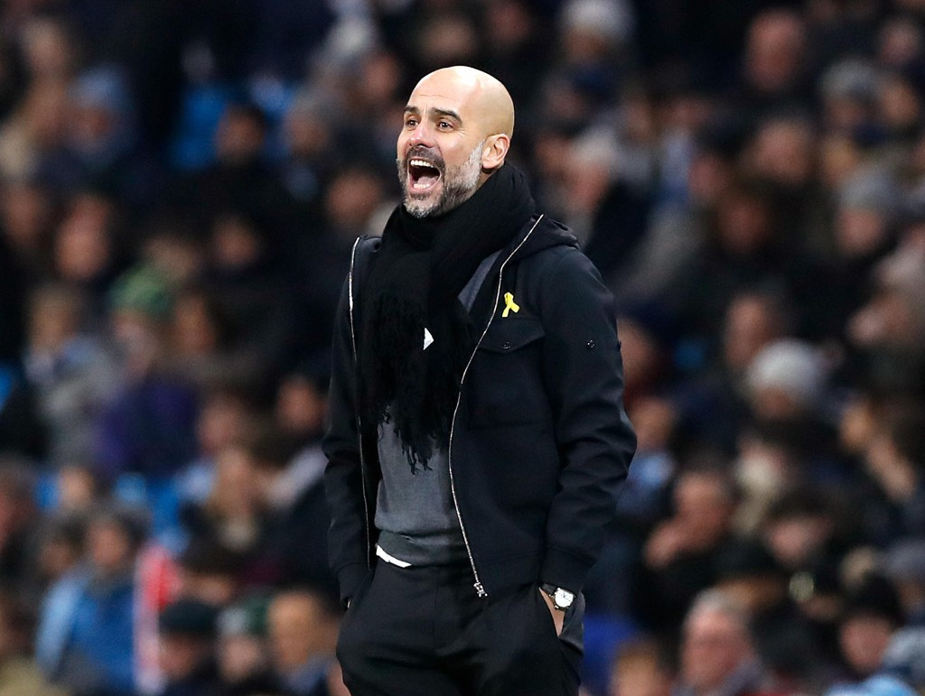 IKKE FORNØYD: Pep Guardiolas Manchester City-lag gjorde ikke en spesielt god kamp hjemme mot Bristol City onsdag