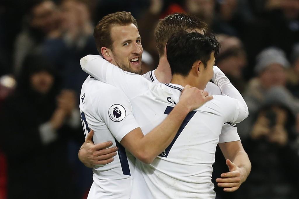 HISTORISK: Harry Kane scoret to ganger mot Everton, og tok dermed over tittelen som klubbens mestscorende spiller i Premier League gjennom tidene.