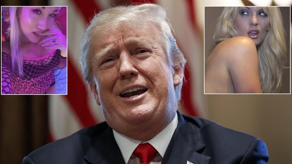 OOPS: Pornostjernen Alana Evans (til venstre) bekrefter historien som kollega Stephanie Clifford (til høyre) tidligere har kommet med om deres møte med Donald Trump.