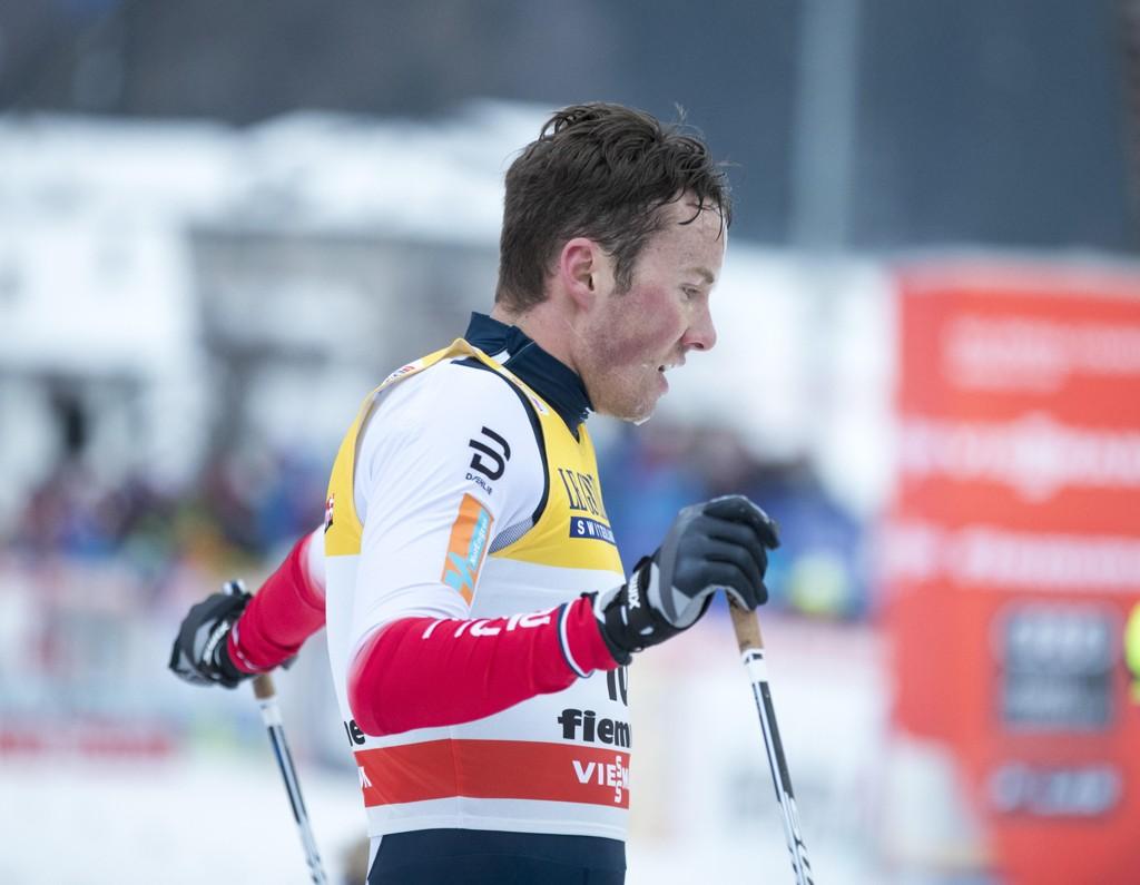 GULLVINNERE: Emil Iversen og hans Varden Meråker tok NM-gullet på stafetten i Gåsbu på søndag. Bildet er fra Tour de Ski tidligere i januar.