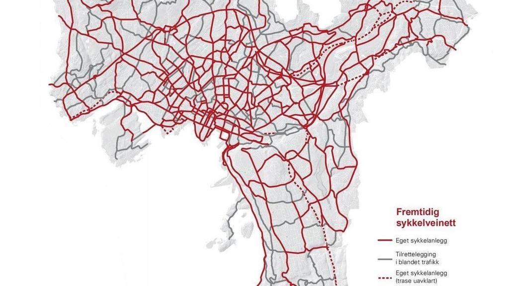 sykkelveier oslo kart Tredobler utbygging: Slik blir sykkel Oslo i fremtiden sykkelveier oslo kart