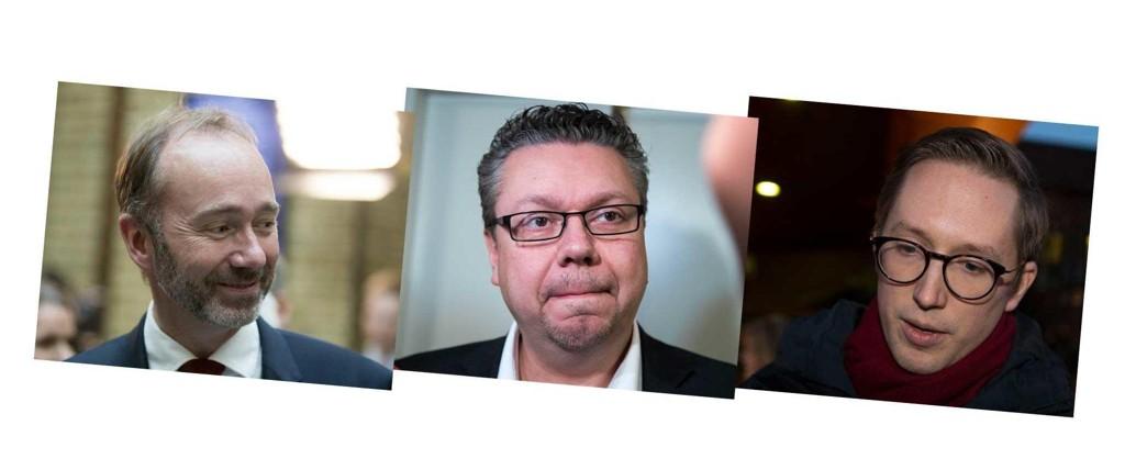 TRUKKET SEG: Både Arbeiderpartiets nestleder, Trond Giske, Fremskrittspartiets parlamentariske nestleder, Ulf Leirstein, og Unge Høyre-leder Kristian Tonning Riise er felt etter varslingssaker.
