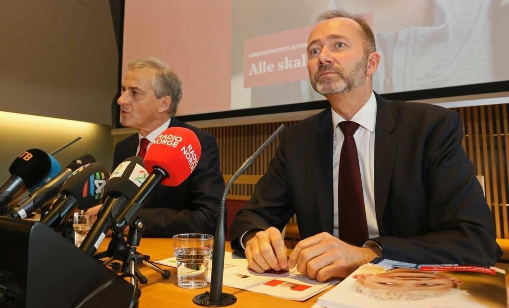 UTEN RETTSSIKKERHET: Arbeiderpartiets leder Jonas Gahr Støre felte dommen mot Trond Giske uten at den anklagede fikk gi sin forklaring.