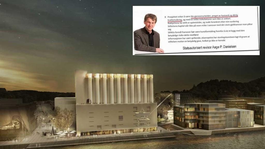 DREPENDE ANALYSE: Statsautorisert revisor Aage P. Danielsen plukker fra hverandre de økonomiske kalkylene til Kunstsilo-prosjektet.