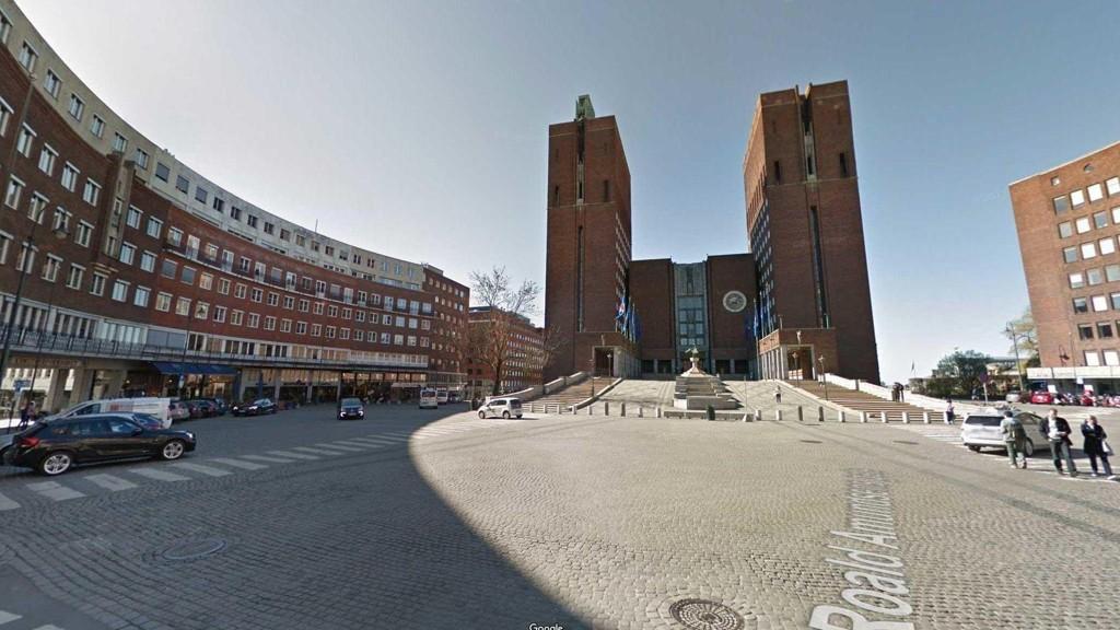 BORGGÅRDEN: Denne plassen foran Rådhuset er en naturlig gågate.
