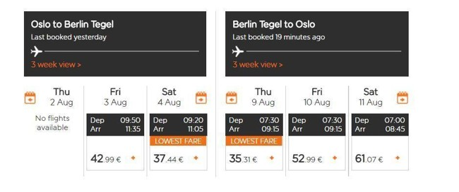 BILLIG: Det blir neppe dyrere å fly Oslo-Berlin den nærmeste tiden.