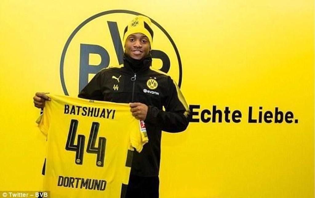 BYTTER KLUBB: Michy Batshuayi er klar for Dortmund.
