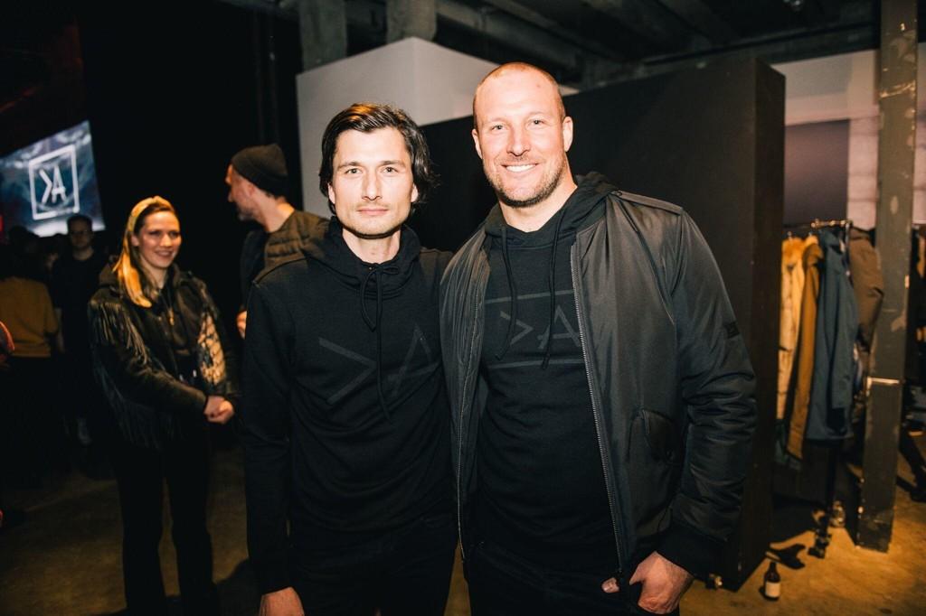 Aksel Lund Svindal sammen med Jessy Heuvelink, som er designansvarlig i Greater than A-teamet. Foto: @akam1k3