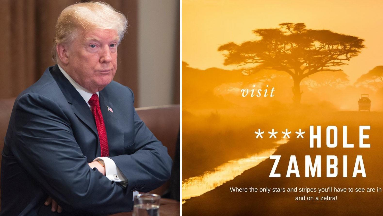 OMFAVNER OMTALEN: Zambia er et av landene som har gjort humor ut av Donald Trumps bemerkelser om at flere land i Afrika er «drittland».