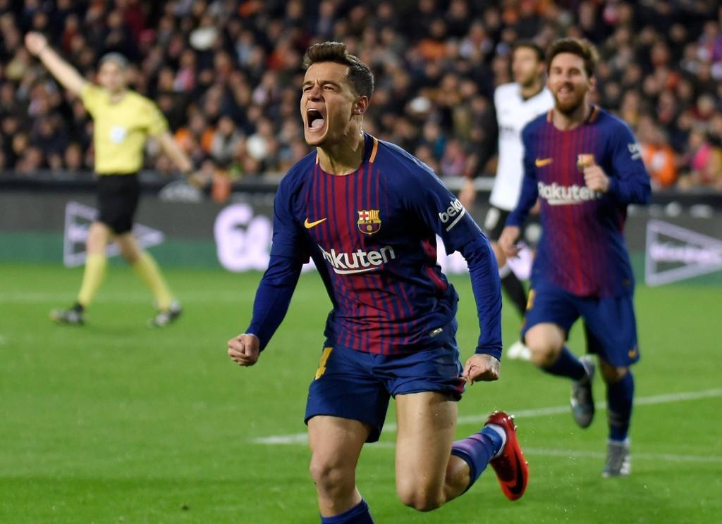 FØRSTE BARCELONA-SCORING: Philippe Coutinho.